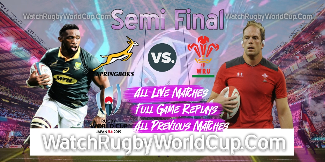 South Africa VS Wales Live Stream Semi Final RWC 2019