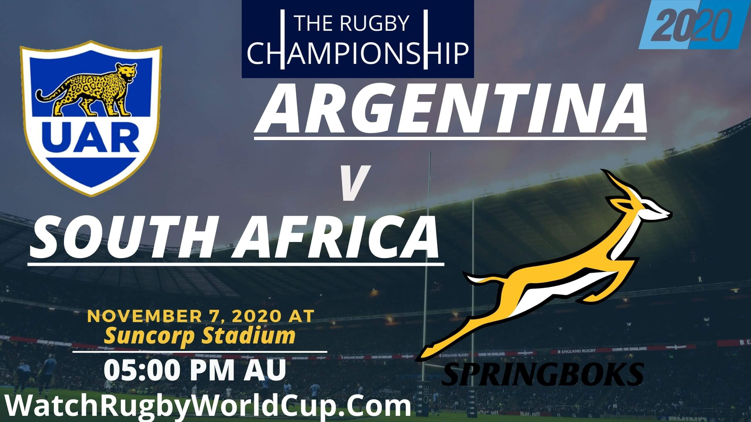 Argentina VS South Africa Rugby Championship Live Stream