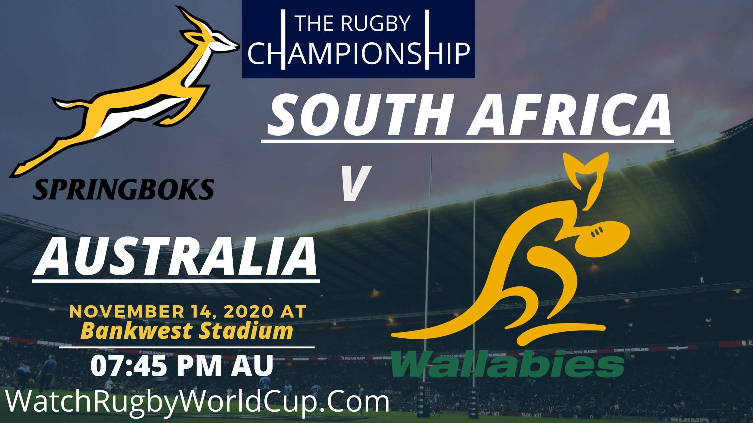 South Africa VS Australia Rugby Championship Live Stream
