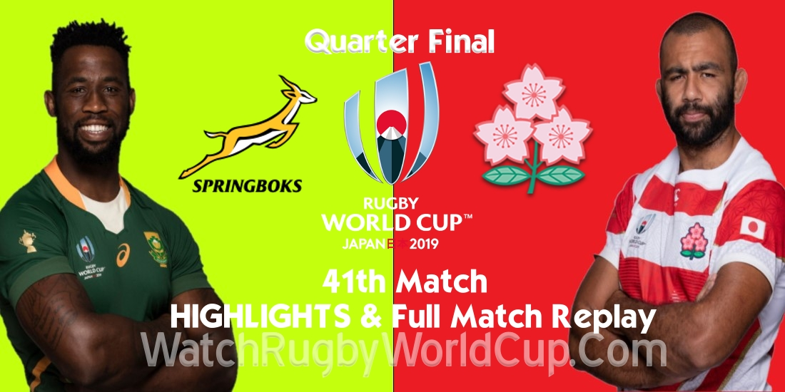 South Africa vs Japan Quarter Final Extended Highlights RWC 2019